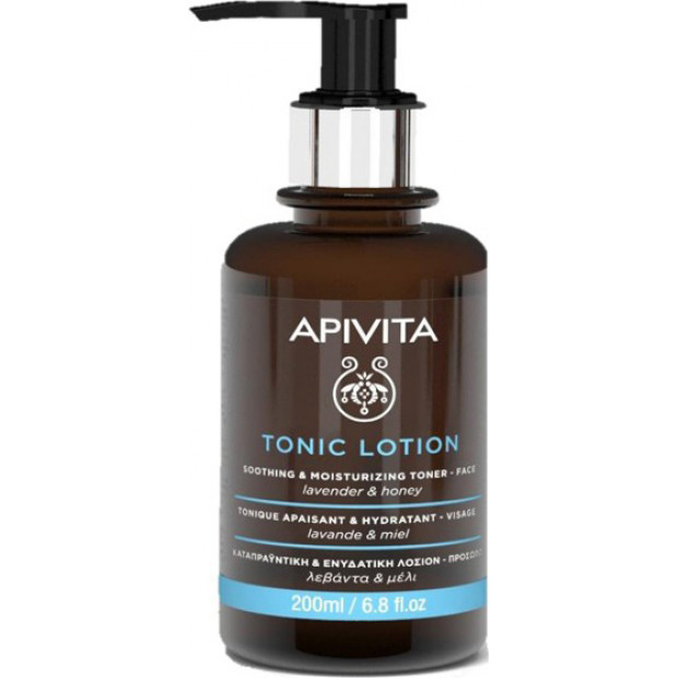 Apivita Tonic Lotion Soothing & Moisturizing Lotion For The Face With Lavender & Honey, 200ml