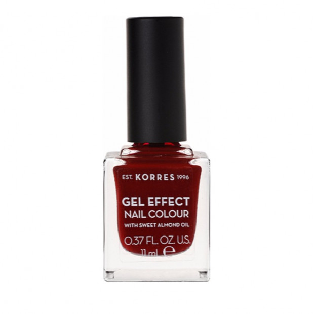 KORRES - NAILS GEL Effect Nail Color 11ml - 59 Wine Red