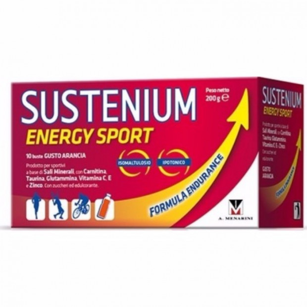 MENARINI Sustenium Energy Sport with orange flavor, 10x20gr