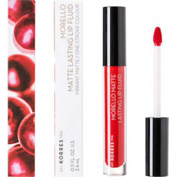 KORRES MORELLO Matte Lasting Lip Fluid 53 Red Velvet 3.4ml