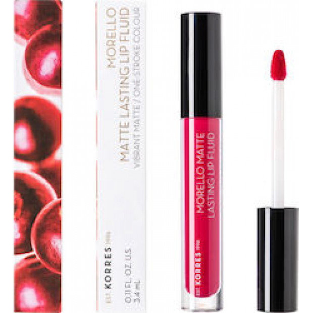 KORRES MORELLO Matte Lasting Lip Fluid 29 Strawberry Kiss 3.4ml