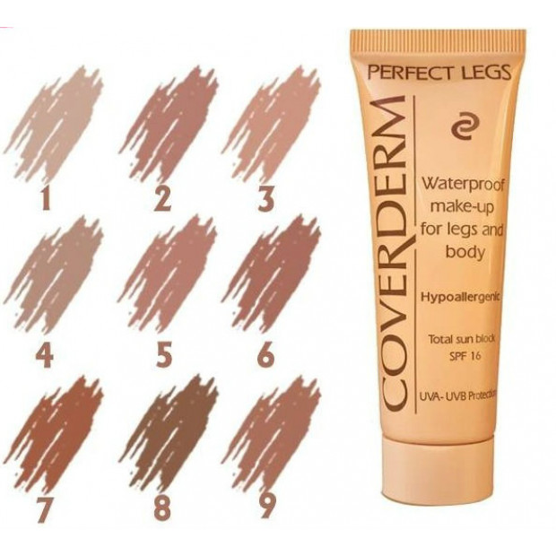 COVERDERM - Perfect Legs, Waterproof Make Up (9 shades), 50ml/60gr - CVD PL 4