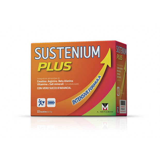 MENARINI Sustenium Plus 22 sachets with Orange flavor