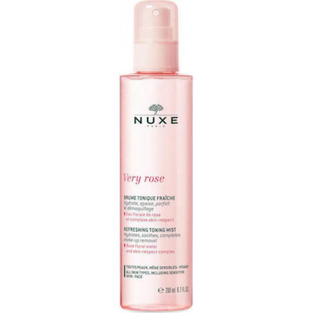 Nuxe Very Rose Face Refreshing Toning Mist, 200ml